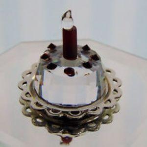 NWT Swarovski Crystal Retired Happy Birthday Cake